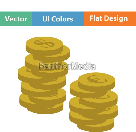 flat design icon of stack of