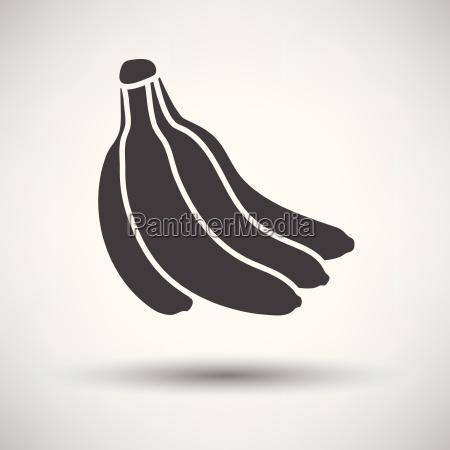 banana icon on gray background