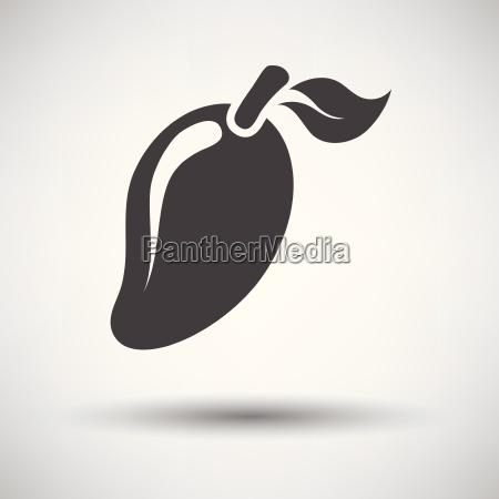 mango icon on gray background