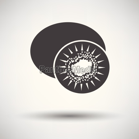 kiwi icon on gray background