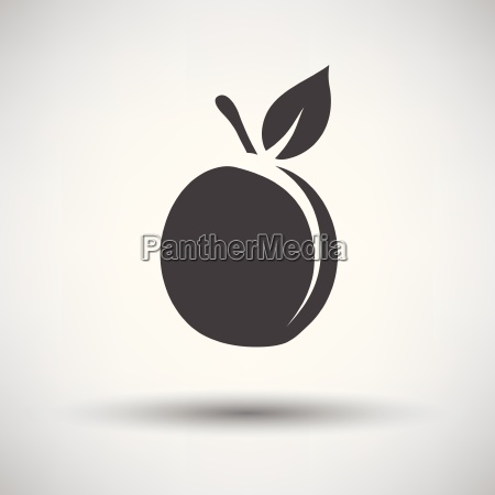 peach icon on gray background