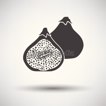 fig fruit icon on gray background