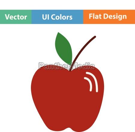 flat design icon of apple