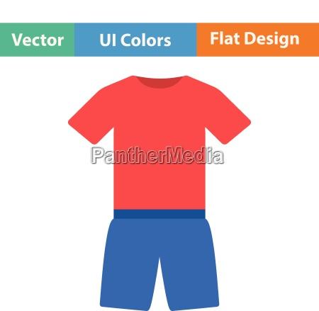 flat design icon of fitness uniform