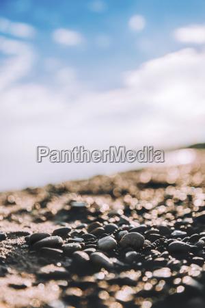 close up of stones at beach