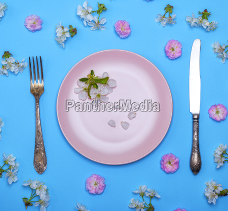 pink ceramic plate and a vintage