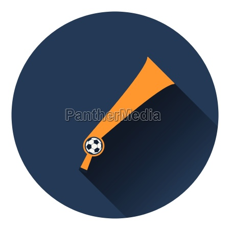 football fans wind horn toy icon