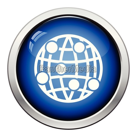 globe connection point icon