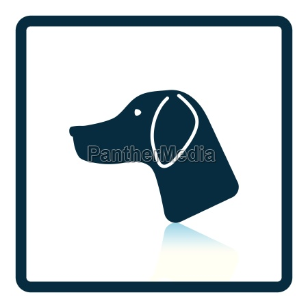 hunting dog head icon