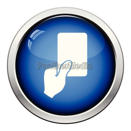 icon of football referee hand with
