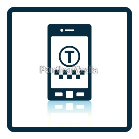 taxi service mobile application icon
