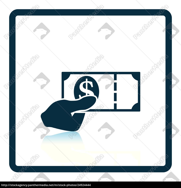 hand, holding, money, icon - 24924444