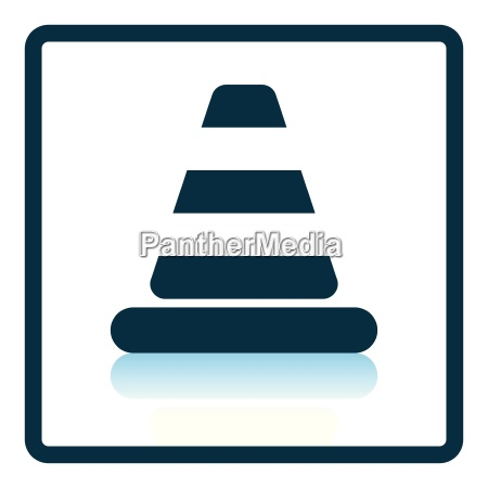 icon of traffic cone