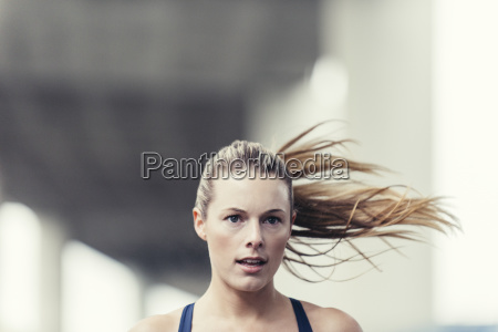 close up of determined young woman