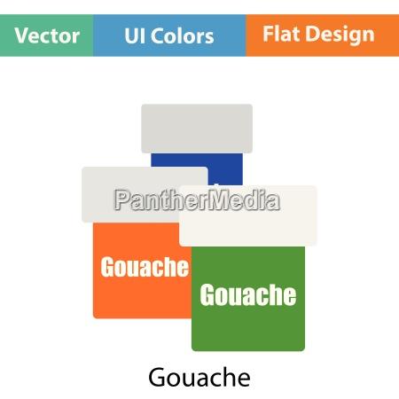 gouache can icon