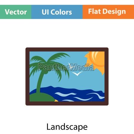 landscape art icon