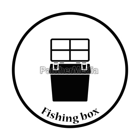 icon of fishing opened box