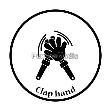football fans clap hand toy icon
