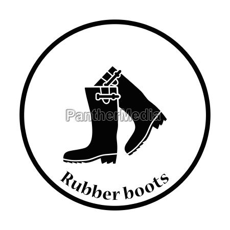 hunters rubber boots icon