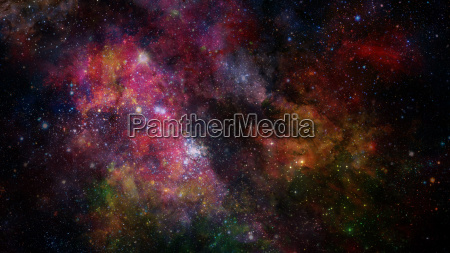 colorful nebulas and stars in space