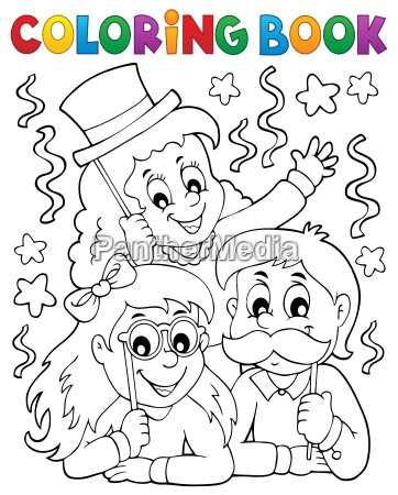 coloring book party photo booth theme