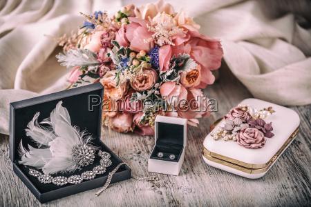 wedding composition bride accessories