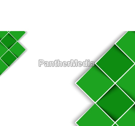 white background with green decorative squares