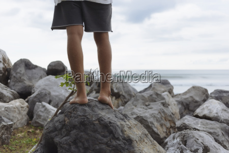 low section of man standing on
