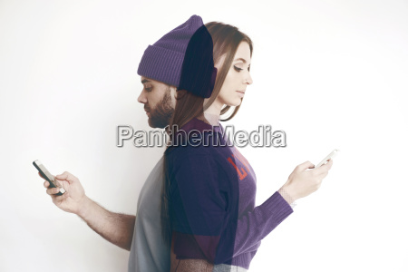 double exposure of man and woman