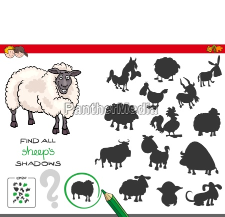 shadows game with sheep characters