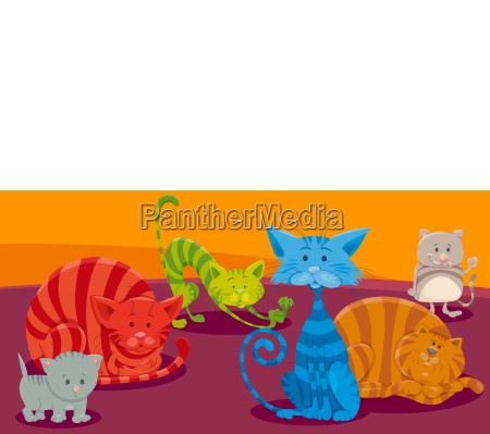 cats or kittens cartoon animal characters