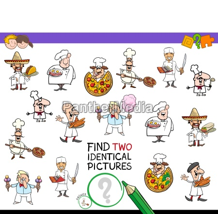find two identical chef characters game