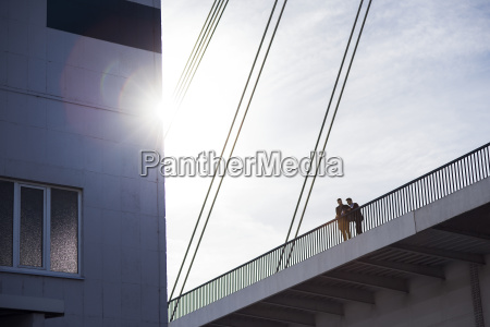 low angle view of men standing