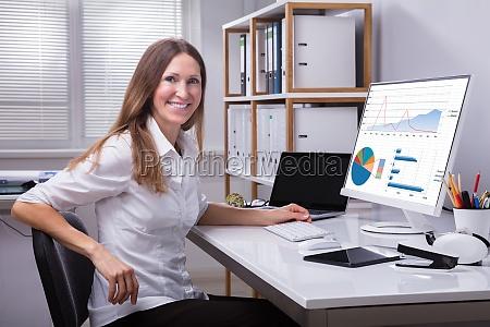 portrait of a smiling businesswoman