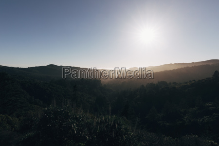 scenic view of landscape against clear