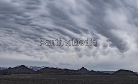 idyllic shot of landscape against cloudy