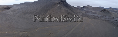 panoramic view of volcanic landscape against