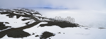 panoramic view of landscape during foggy