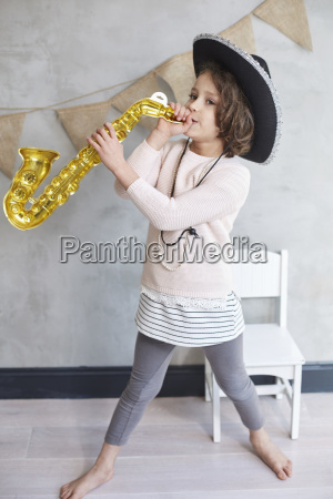 full length of playful girl with