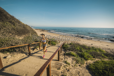 usa california newport beach woman running