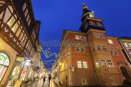 germany thuringia eisenach architecture and christmas