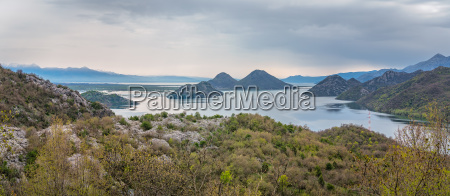 skadar lake national park panorama