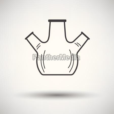 icon of chemistry round bottom flask