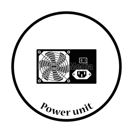 power unit icon vector illustration