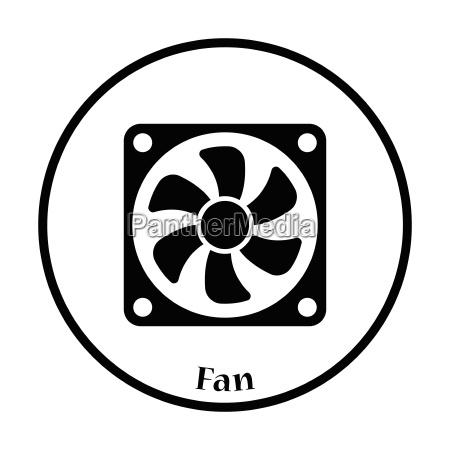 fan icon vector illustration