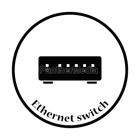 ethernet switch icon vector illustration