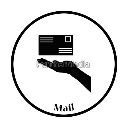 icon of hand holding letter