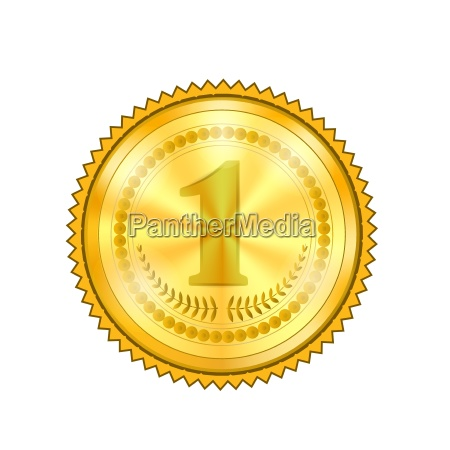champion award gold medal icon with