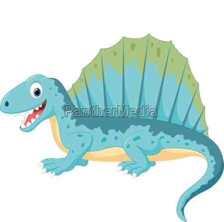 cartoon funny dinosaur