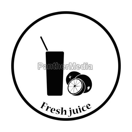 icon of orange juice glass